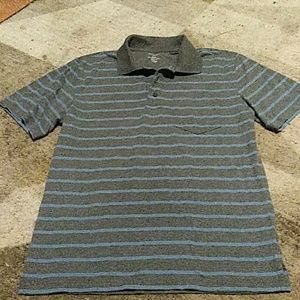George Grey and Blue Polo Shirt S